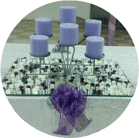 Event from the Heart - Slide photo - event - decorations - candle