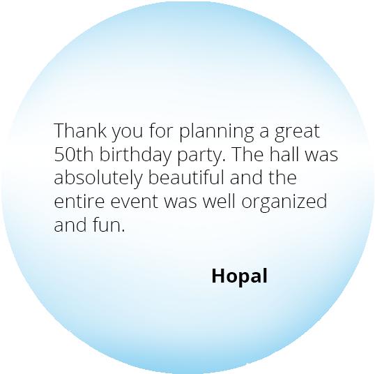 Event from the Heart - Testimonials - Hopal