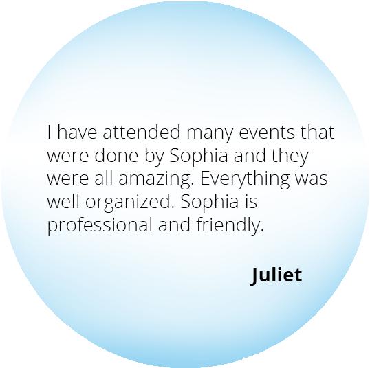 Event from the Heart - Testimonials - Juliet