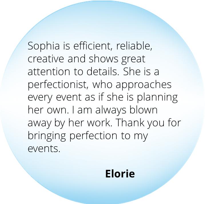 Event from the Heart - Testimonials - Elorie